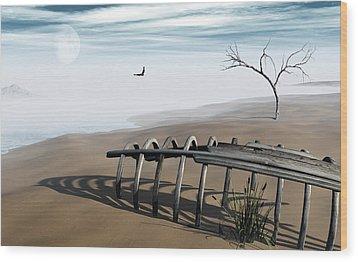 Dream Lake Wood Print by Richard Rizzo