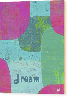 Wood Print featuring the painting Dream by Lisa Weedn