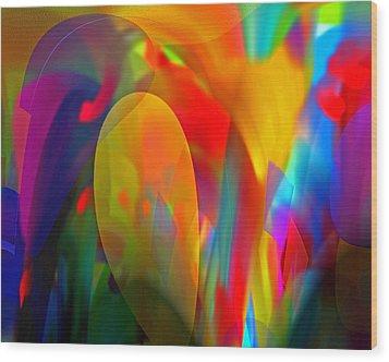 Wood Print featuring the digital art Dream Of Red by Lynda Lehmann