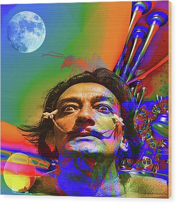 Dream Of Salvador Dali Wood Print by Matthew Lacey