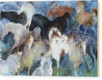 Dream Of Wild Horses Wood Print