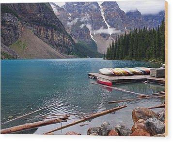 Moraine Lake, Ab  Wood Print