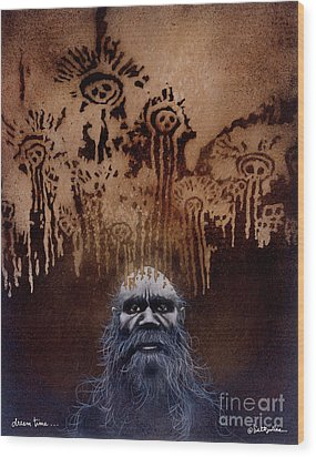 Wood Print featuring the painting Dream Time... by Will Bullas