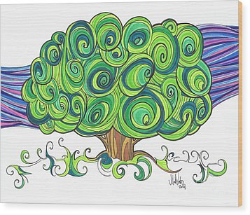 Dream Tree Wood Print by Michael Ciccotello