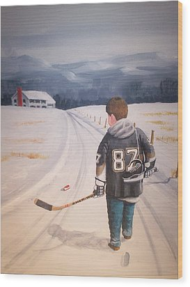 Dream Walking - The Kid Wood Print by Ron  Genest