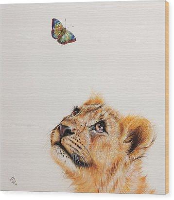 Wood Print featuring the drawing Dreamer by Elena Kolotusha