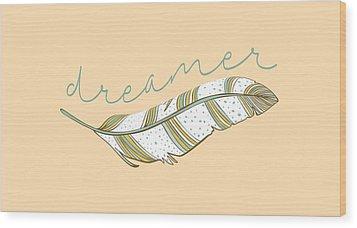 Wood Print featuring the digital art Dreamer by Heather Applegate