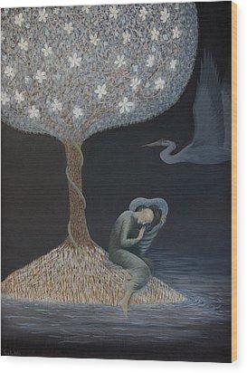Wood Print featuring the painting Dreamer by Tone Aanderaa