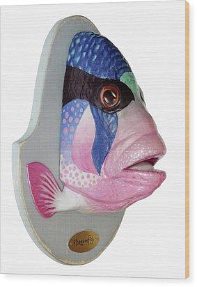 Dreamfish Trophy Wood Print by Artem Efimov