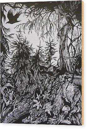 Dreaming Alaska.part One Wood Print by Anna  Duyunova
