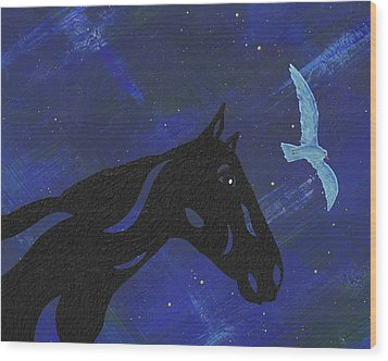 Dreaming Horse Wood Print by Manuel Sueess