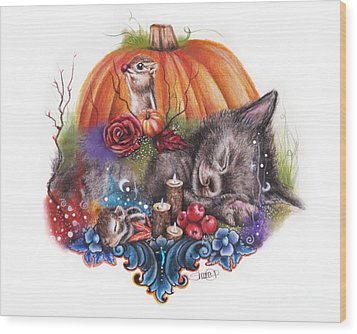 Dreaming Of Autumn Wood Print by Sheena Pike