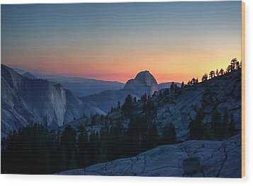 Wood Print featuring the photograph Dreaming Of Climbing Half Dome by Peter Thoeny