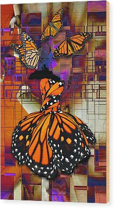 Wood Print featuring the mixed media Dreaming Of Flying High by Marvin Blaine
