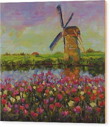 Dreaming Of Holland Wood Print by Chris Brandley