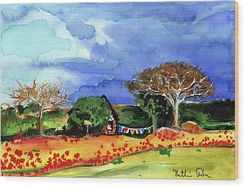 Wood Print featuring the painting Dreaming Of Malawi by Dora Hathazi Mendes