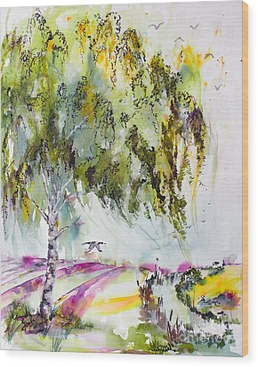 Wood Print featuring the painting Dreaming Of Provence by Ginette Callaway