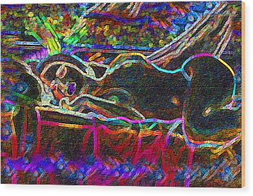 Dreaming Repose Wood Print