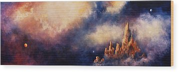 Wood Print featuring the painting Dreaming Sedona by Marina Petro