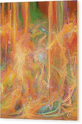 Dreams In Color Wood Print by Linda Sannuti