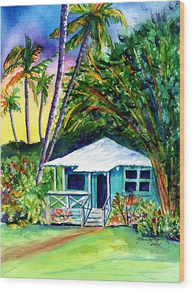 Wood Print featuring the painting Dreams Of Kauai 2 by Marionette Taboniar