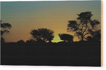 Dreams Of Namibian Sunsets Wood Print by Ernie Echols