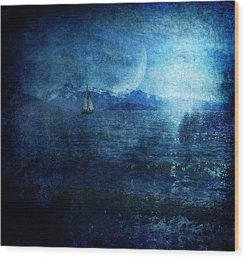 Dreams Of Sailing Wood Print by Michele Cornelius