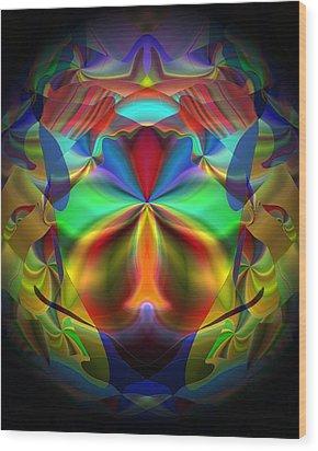Wood Print featuring the digital art Dreams Of The Future by Lynda Lehmann