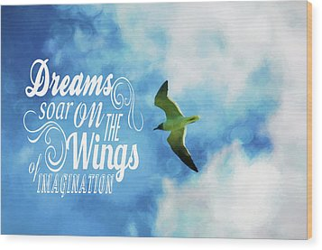 Wood Print featuring the photograph Dreams On Wings by Jan Amiss Photography