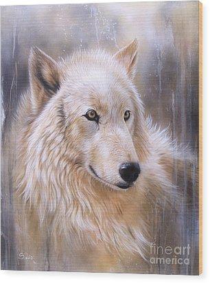Dreamscape - Wolf II Wood Print by Sandi Baker