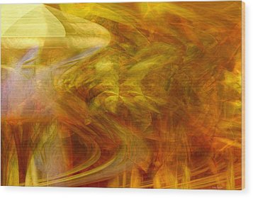 Dreamstate Wood Print by Linda Sannuti