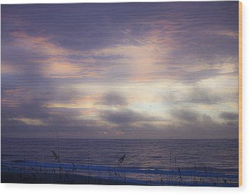 Dreamy Blue Atlantic Sunrise Wood Print by Teresa Mucha