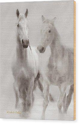 Dreamy Horses Wood Print
