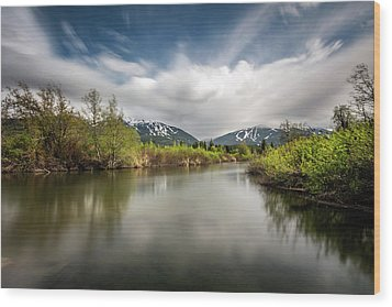 Wood Print featuring the photograph Dreamy River Of Golden Dreams by Pierre Leclerc Photography