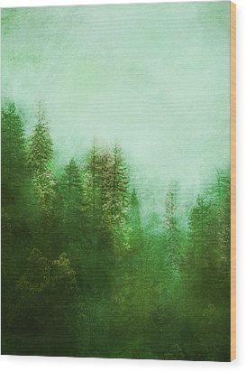 Wood Print featuring the digital art Dreamy Spring Forest by Klara Acel