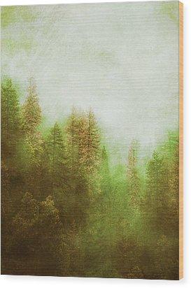 Wood Print featuring the digital art Dreamy Summer Forest by Klara Acel