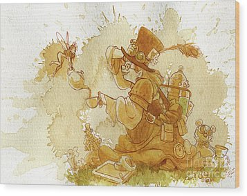 Dress Up Wood Print by Brian Kesinger
