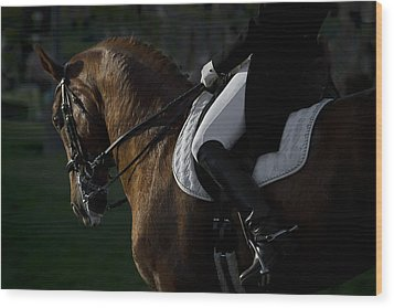 Dressage Wood Print by Wes and Dotty Weber