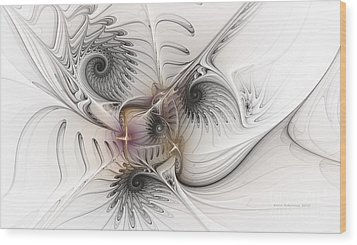 Wood Print featuring the digital art Dressed In Silk And Satin by Karin Kuhlmann