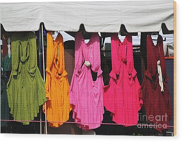 Dresses In The Sunlight Wood Print by Theresa Willingham