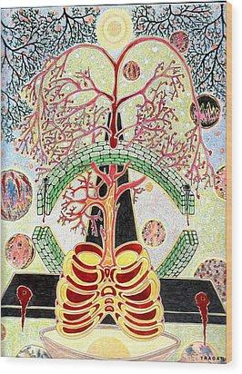 Wood Print featuring the painting Drevo Man by Yury Bashkin