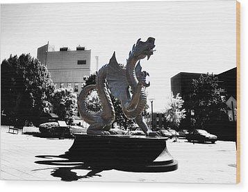 Drexel Dragon Wood Print by Bill Cannon