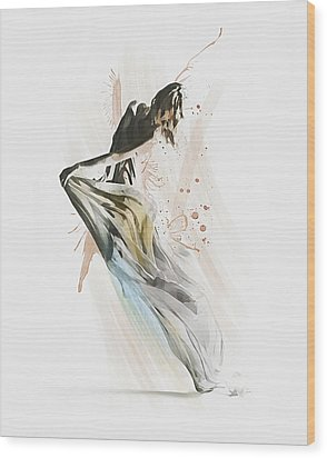 Drift Contemporary Dance Wood Print