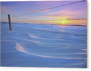 Wood Print featuring the photograph Drifting Away by Dan Jurak