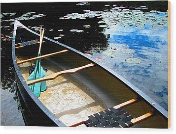 Drifting Into Summer Wood Print by Angela Davies