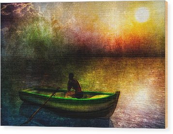Drifting Into The Light Wood Print by Bob Orsillo