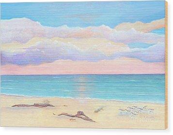 Driftwood Beach Wood Print by Frances  Dillon