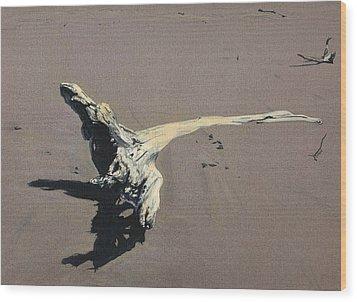Coastal Driftwood Wood Print