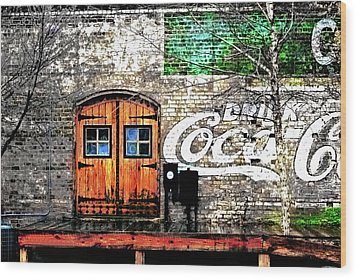 Wood Print featuring the photograph Drink Coca Cola  by Gray  Artus