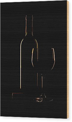 Drink Poured Wood Print by Andrew Soundarajan